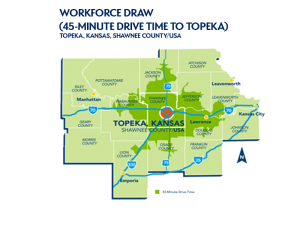 Workforce Draw - 45 Minute Drive Time to Topeka